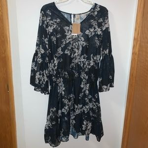 """NWT Rachel Roy """"Blossom"""" coverup size L"""